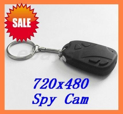 30FPS Mini SPY Hidden Car Key Micro Camera DVR 720*480