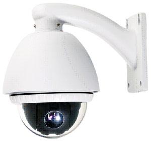 Outdoor Dome PTZ Camera + Samsung Camera