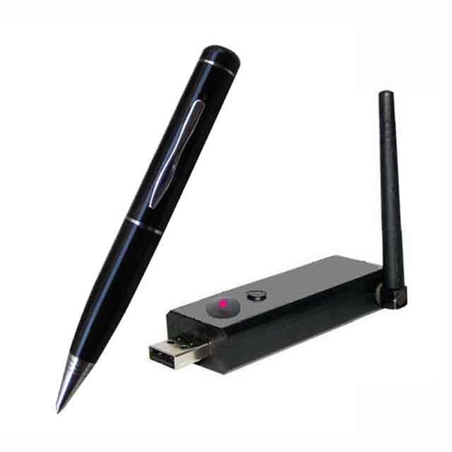2.4G Wireless Ultra-low lux Pen Camera + Wireless USB Receiver DVR Distance 100M